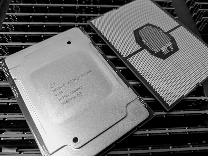 Intel Xeon Silver 4110 Top And Bottom