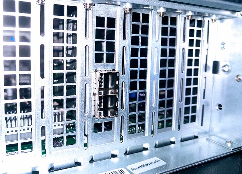 Supermicro SSG 5029P E1CTR12L Rear SFF 8644