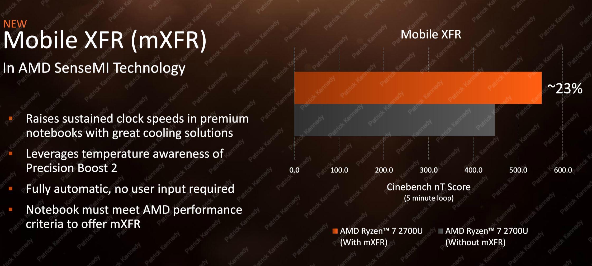 AMD Ryzen Mobile Mobile XFR