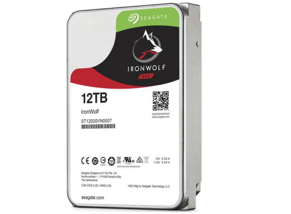 New Seagate IronWolf and BarraCuda Pro 12TB Hard Drives