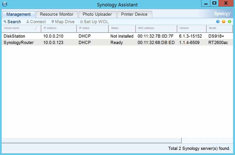 Synology DS918+ Assistant
