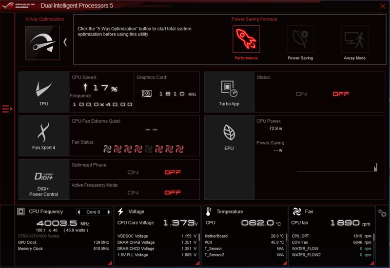 ASUS X399 Zenith Extreme AI Suite 3