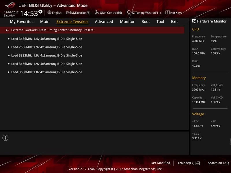 ASUS X399 Zenith Extreme BIOS 1