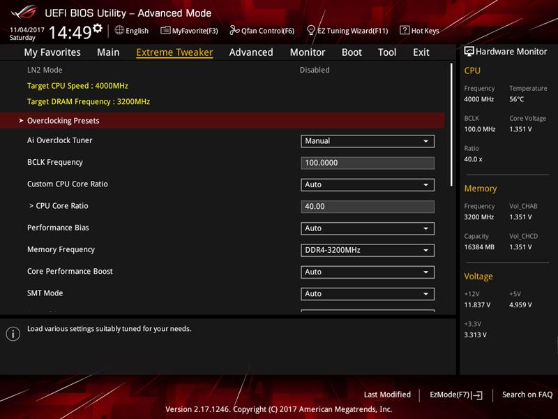 ASUS X399 Zenith Extreme BIOS 3