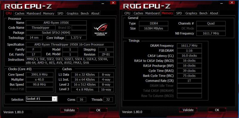ASUS X399 Zenith Extreme CPUz