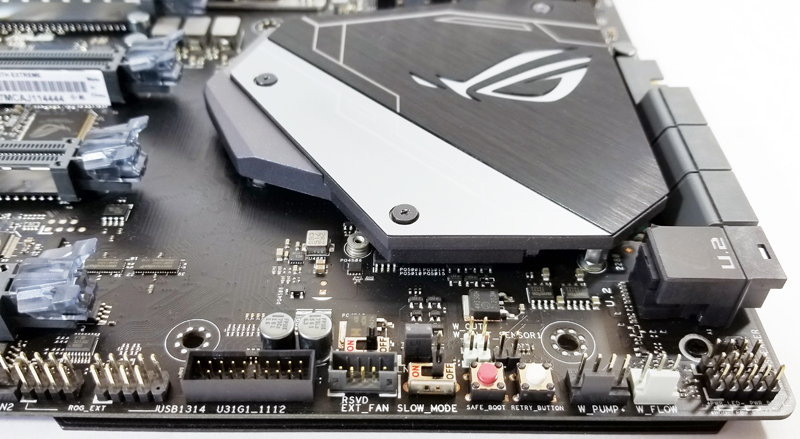 ASUS X399 Zenith Extreme Ledt Side Headers