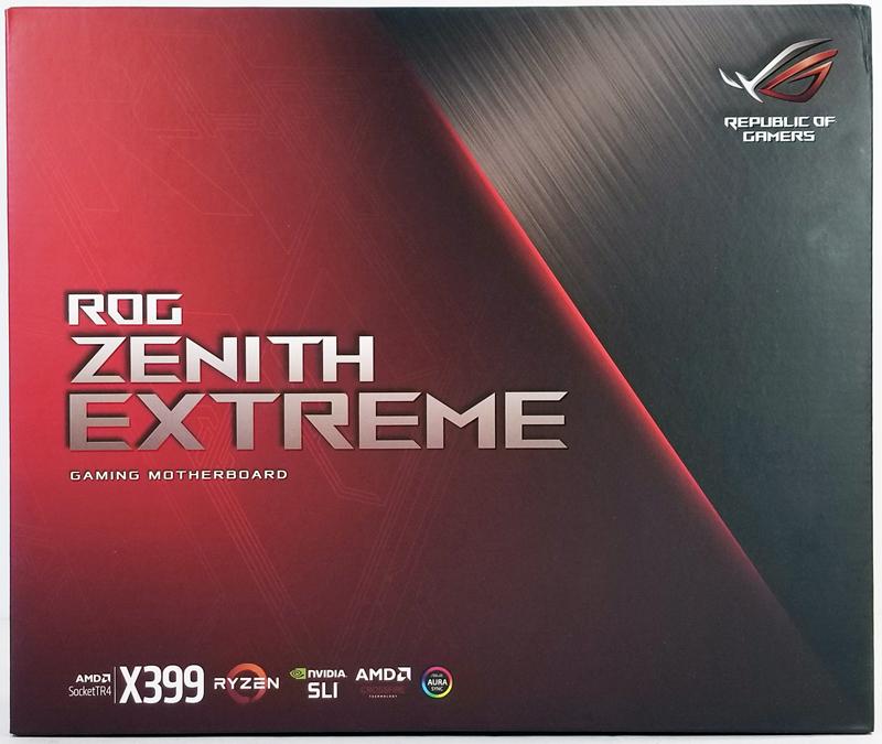ASUS X399 Zenith Extreme Retail Box Front