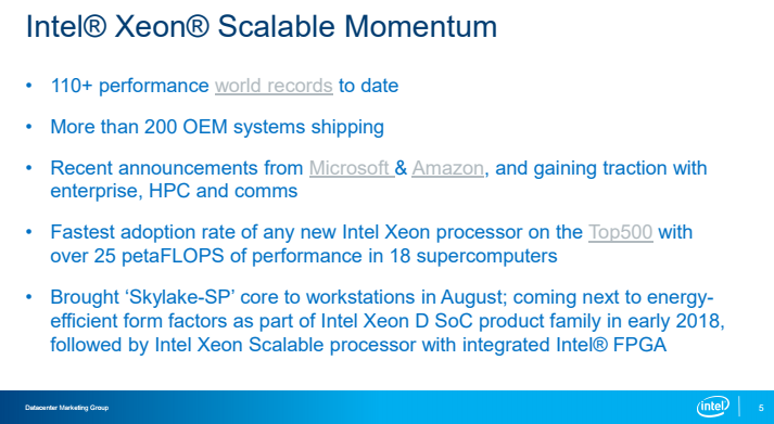 Intel Xeon D Skylake In Q1 2018