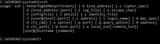 Microsoft Windows OpenSSH Client