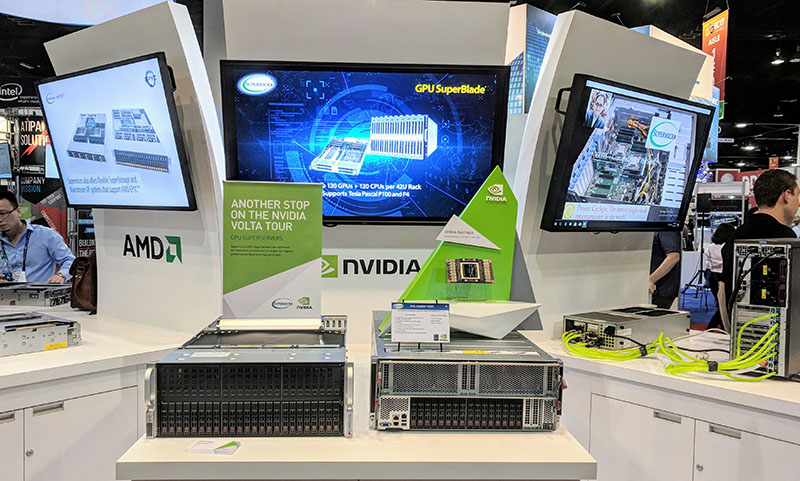 Supermicro At SC 2017 NVIDIA Tesla V100 Volta