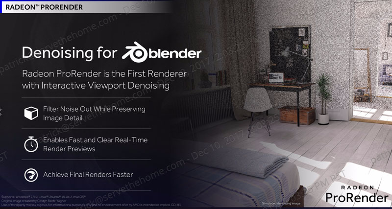 AMD Radeon Pro Driver Adrenalin Edition ProRender Denoising For