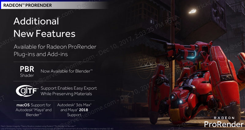 AMD Radeon Pro Driver Adrenalin Edition ProRender New Features