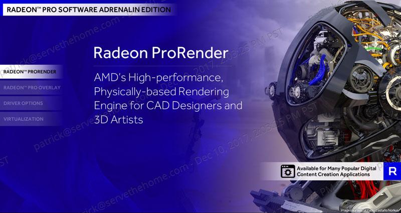 AMD Radeon Pro Driver Adrenalin Edition ProRender - ServeTheHome