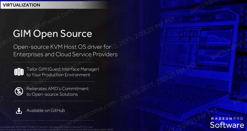 AMD Radeon Pro Virtualization GIM Driver For KVM Open Source