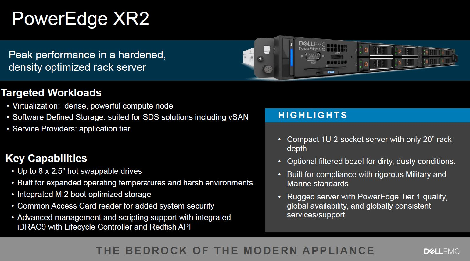 Dell Poweredge XR2 Rugged Server