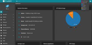 FreeNAS 11.1 UI