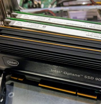 Intel Optane 900p AIC In Hosting Node