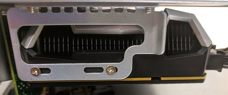 NVIDIA GeForce GTX 1070 Ti In Supermicro Ultra 2U Rear Support