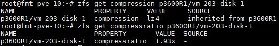 ZFS Get Compressratio And Compression