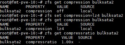 ZFS Set Compression