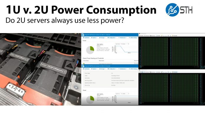 1U V 2U Power Consumption Title