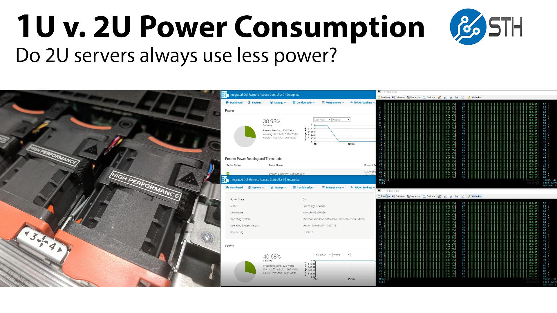 Testing Conventional Wisdom in 1U v 2U Power Consumption