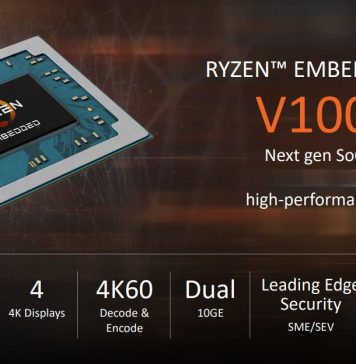 AMD Ryzen Embedded V1000 Series Overview