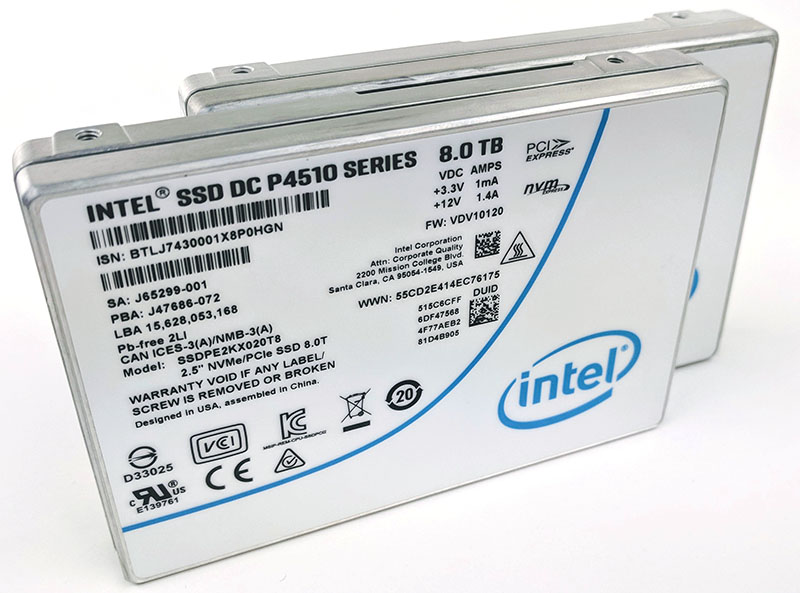 Intel DC P4510 8TB NVMe SSD