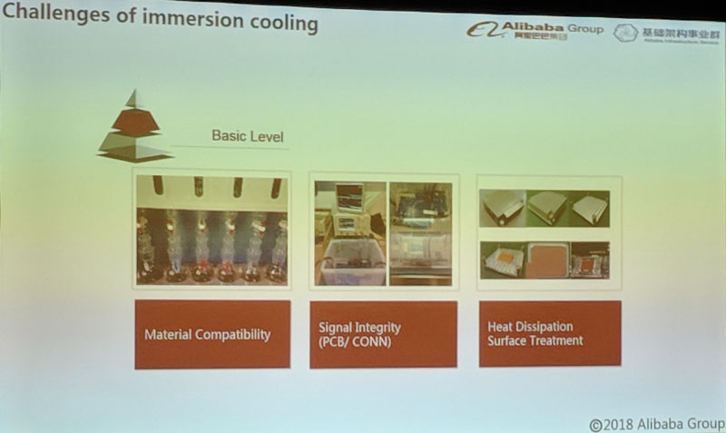 Alibaba Immersion Cooling Basic Level Challenges
