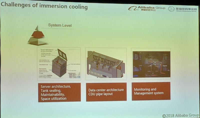 Alibaba Immersion Cooling System Level Challenges