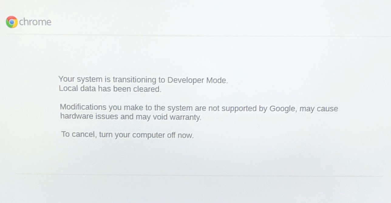 Google Chrome OS Developer Transition