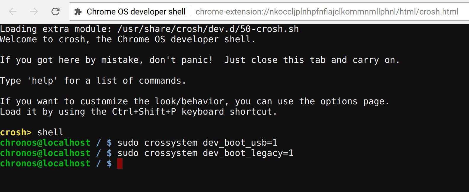 Google Chrome OS Setup Legacy And USB Boot