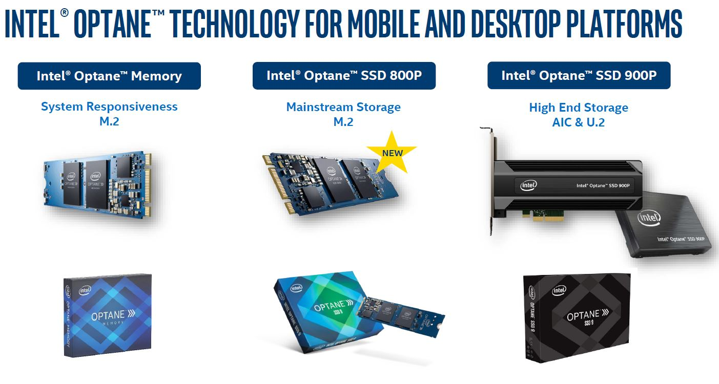 Intel Optane 800P Consumer Family