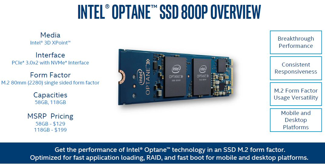 Intel Optane 800P Overview