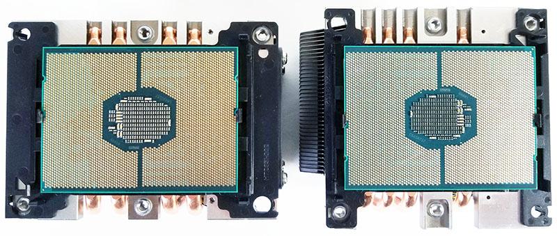 Socket LGA 3647 Narrow And Square CPU Mounted