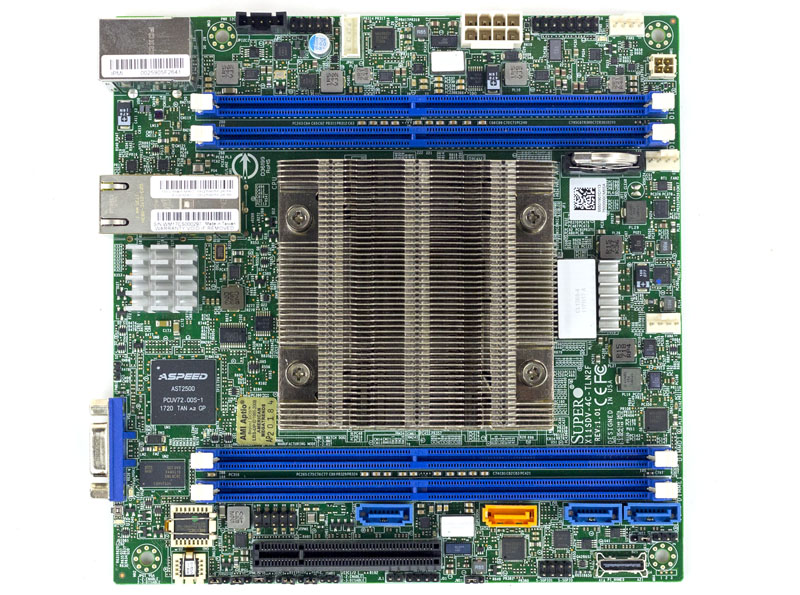 Supermicro X11SDV 4C TLN2F Overview