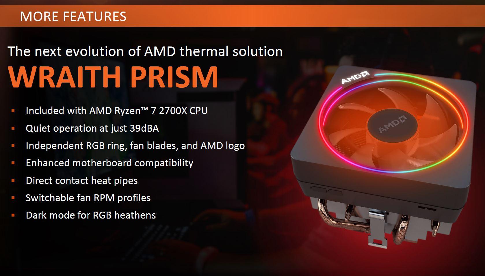 2nd Gen AMD Ryzen 7 2700X Wraith Prism