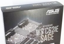ASUS WS C621E SAGE Box Display