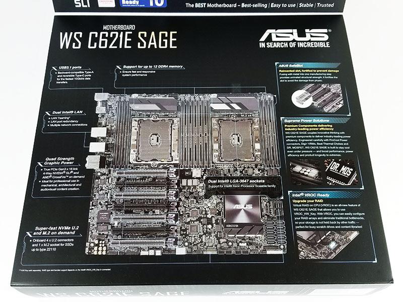 ASUS WS C621E SAGE Box Open
