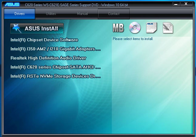 ASUS WS C621E SAGE Driver Disk 1