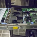 Dell EMC PowerEdge R740xd Lid Off In Rack
