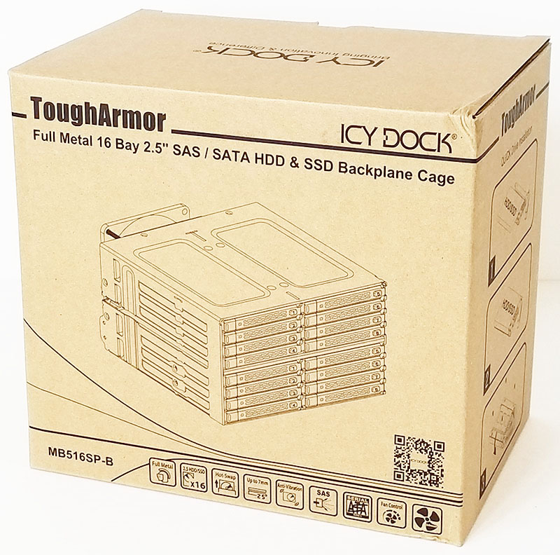 Icy Dock ToughArmor MB16SP B 16 Bay Retail Box Front