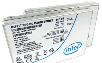 Intel DC P4510 8TB NVMe SSD Three Quarter