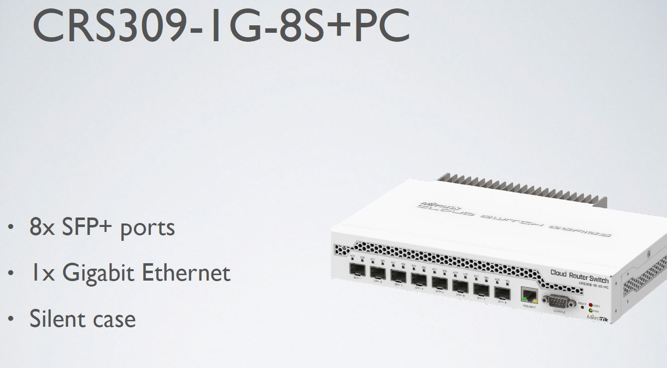 MikroTik CR309 1G 8S+PC Switch