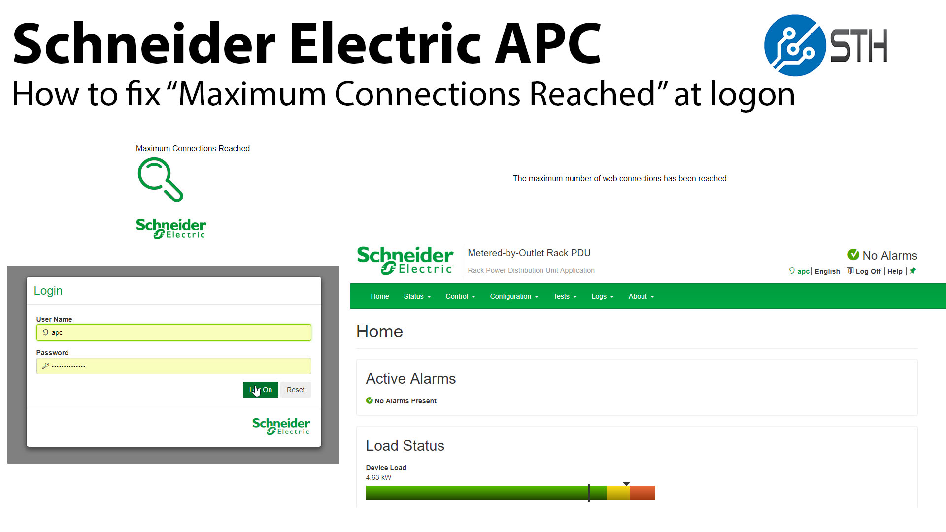How to Fix Schneider Electric APC Maximum Connections Reached