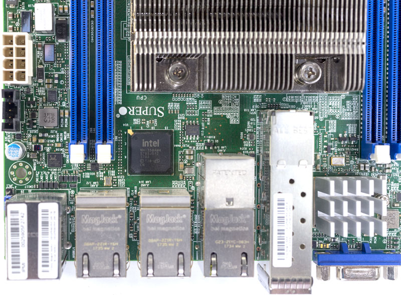 Supermicro X11SDV 16C TP8F Intel I350AM4 Networking