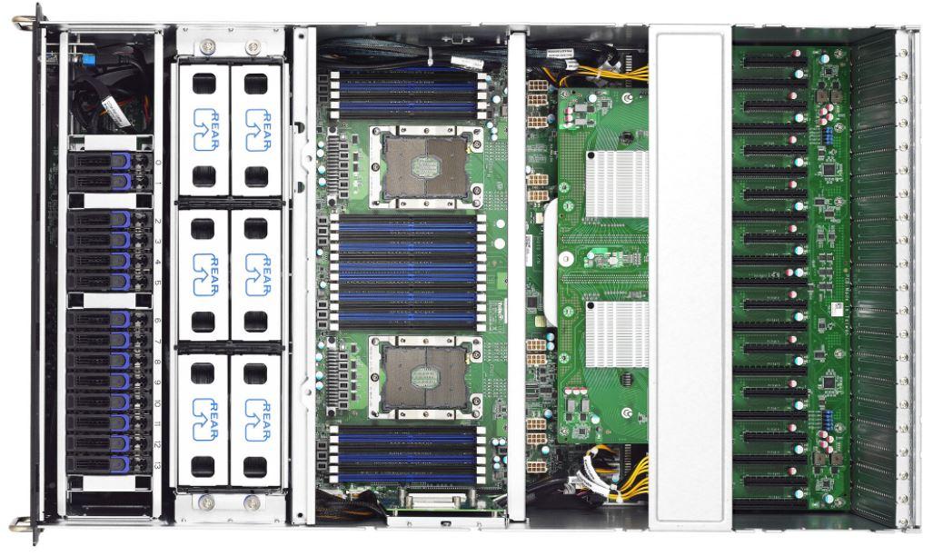 Tyan FA77 B7119 10x GPU Server Top