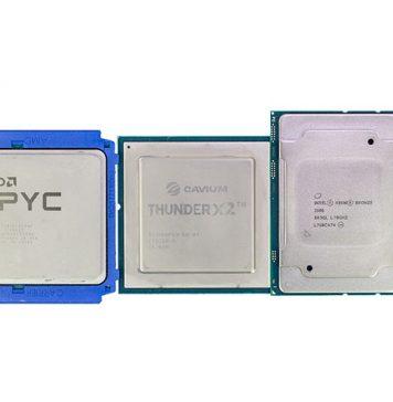 AMD EPYC 7000 Cavium ThunderX2 Intel Xeon Scalable And E5 V1 V4