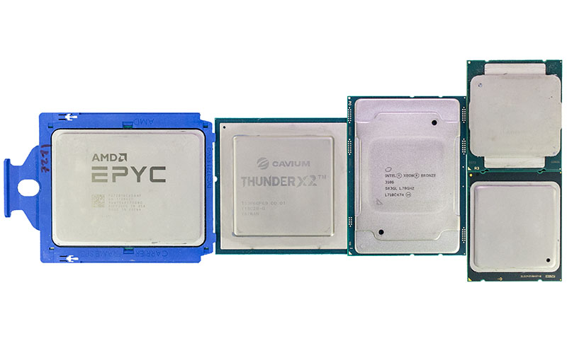AMD EPYC 7000 Cavium ThunderX2 Intel Xeon Scalable And E5 V1 V4