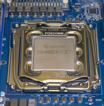 Cavium ThunderX2 Chip In Socket